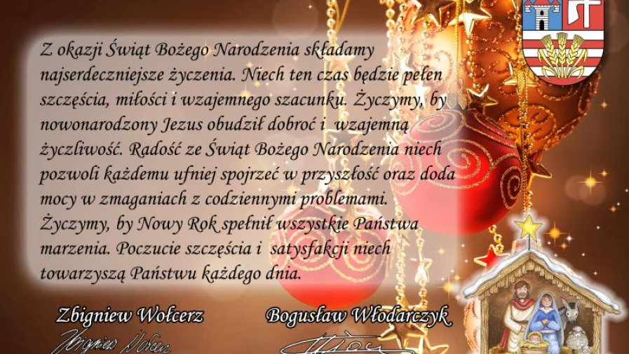 Życzenia z okazji Świąt Bożego Narodzenia dla mieszkańców powiatu opatowskiego