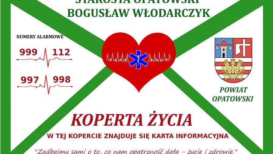 """Akcja """"Koperta Życia"""" skierowana do seniorów w powiecie opatowskim wciąż trwa"""